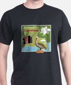 Louisiana Map T-Shirt