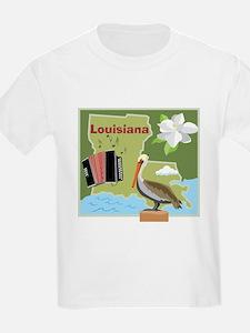 Louisiana Map T-Shirt