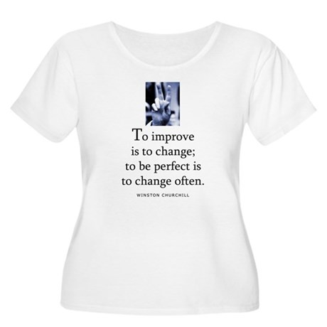 To improve Women's Plus Size Scoop Neck T-Shirt