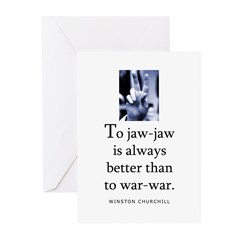 To jaw-jaw Greeting Cards (Pk of 20)
