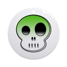 Little buddy neon green skull Ornament (Round)