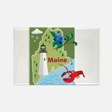 Maine Map Rectangle Magnet