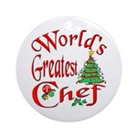 World's Greatest Chef Ornament (Round)