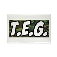 T.E.G Army Rectangle Magnet