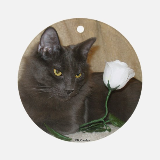 Rose Kitty1 Ornament (Round)