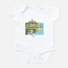 Massachusetts Map Infant Bodysuit