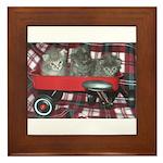 Wagonful of Kittens Framed Tile