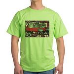 Wagonful of Kittens Green T-Shirt