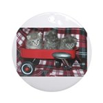 Wagonful of Kittens Ornament (Round)