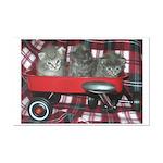 Wagonful of Kittens Mini Poster Print