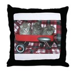 Wagonful of Kittens Throw Pillow
