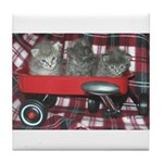 Wagonful of Kittens Tile Coaster