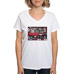 Wagonful of Kittens Women's V-Neck T-Shirt