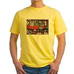 Wagonful of Kittens Yellow T-Shirt