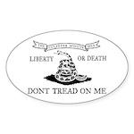 Culpeper Flag Oval Sticker (50 pk)