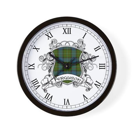 Ferguson Tartan Shield Wall Clock