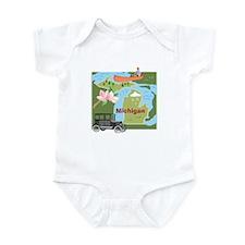 Michigan Map Infant Bodysuit