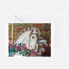 Roached & Roses Carousel Hors Greeting Card