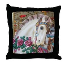 Roached & Roses Carousel Hors Throw Pillow