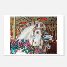 Roached & Roses Carousel Hors Postcards (Package o