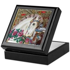 Roached & Roses Carousel Hors Keepsake Box
