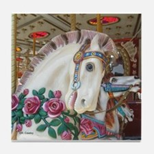 Roached & Roses Carousel Hors Tile Coaster