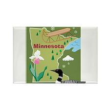 Minnesota Map Rectangle Magnet