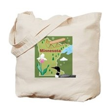 Minnesota Map Tote Bag