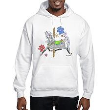 Carousel Horse Flowers Hoodie