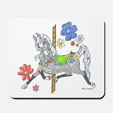 Carousel Horse Flowers Mousepad