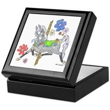 Carousel Horse Flowers Keepsake Box