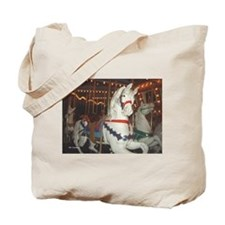 Carousel Horses at night Tote Bag