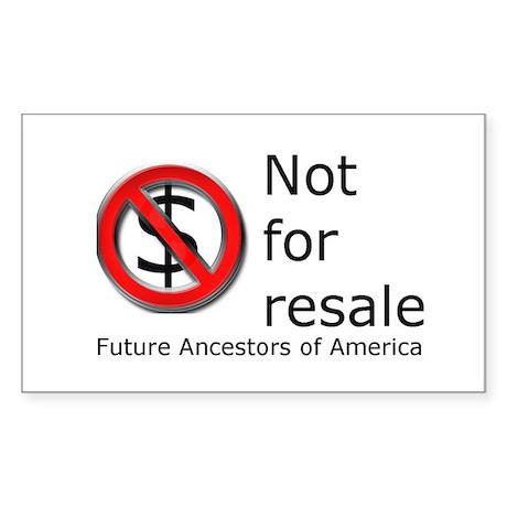 Not for Resale Rectangle Sticker 10 pk)