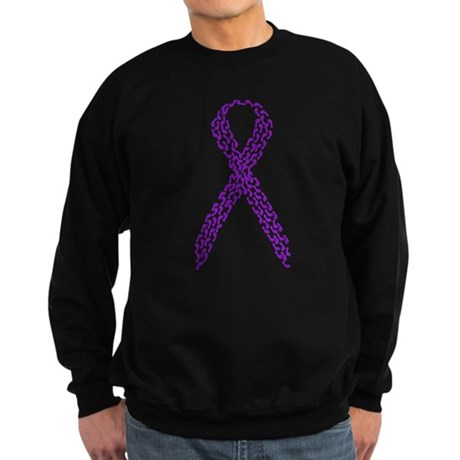 Purple Footprints Sweatshirt (dark)