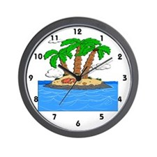 Summer Island Wall Clock