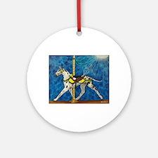C H Carousel GD w/ eagle Ornament (Round)