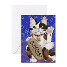 Maneki Neko--Abundance Greeting Card