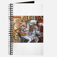 Tiger Horses on Carousel Journal