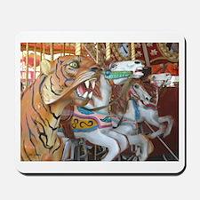 Tiger Horses on Carousel Mousepad