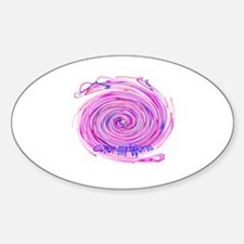 color my world Oval Decal
