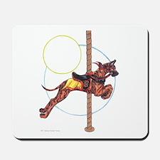 C Brindle Great Dane Carousel Jumper Mousepad