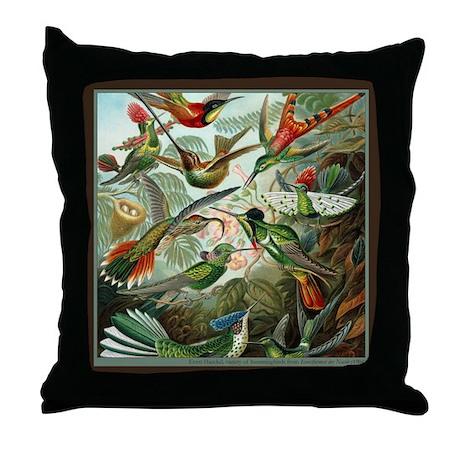 """""""Hummingbird Print"""" Throw Pillow"""