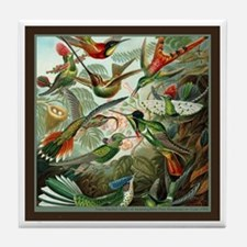 """Hummingbird Print"" Tile Coaster"