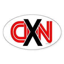X over CNN Oval Decal
