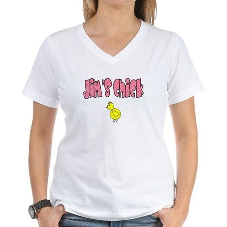 Jim's Chick Women's V-Neck T-Shirt