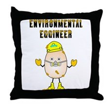 Environmental Eggineer Throw Pillow