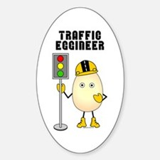 Traffic Eggineer Oval Decal