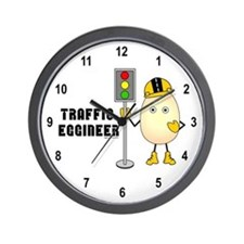 Traffic Eggineer Wall Clock