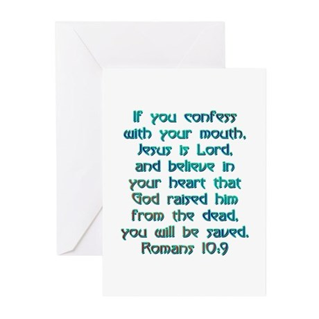 Romans 109 Greeting Cards Pk Of 10 By Biblicaltshirts