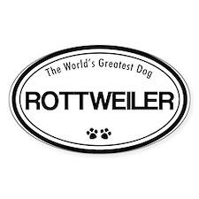 Rottweiler Oval Decal